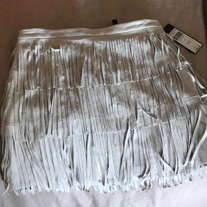 Never worn bcbg max Azria suede miniskirt